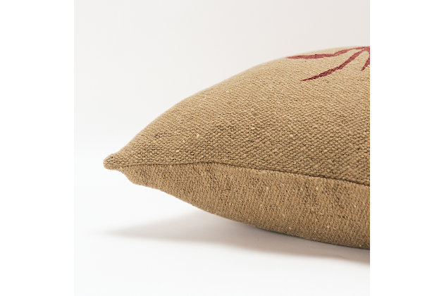 Rizzy Home Crab Throw Pillow, , large