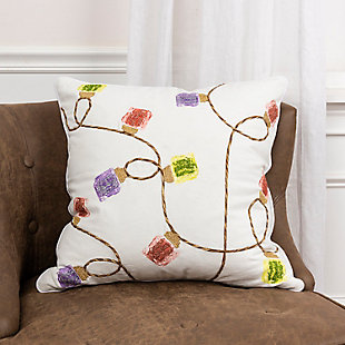 """Rizzy Home 20"""" x 20"""" Poly Filled Pillow, , rollover"""