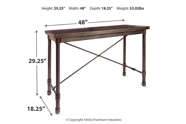 Oxford Industrial Collection Console Table, , large