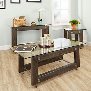 Knox Knox Industrial Collection Coffee Table, , large