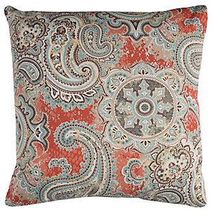 Rizzy Home Paisley Indoor/ Outdoor Throw Pillow, , rollover