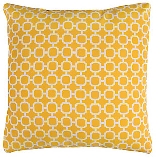 Rizzy Home Geometric Indoor/ Outdoor Throw Pillow, Yellow, large