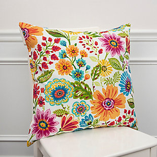 Rizzy Home Botanical Indoor/ Outdoor Throw Pillow, , rollover