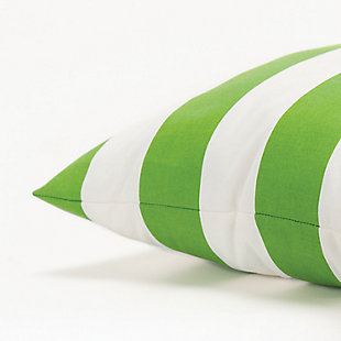 Rizzy Home Stripe Indoor/ Outdoor Throw Pillow, Green Apple, large