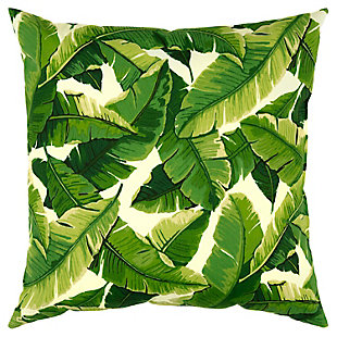 Rizzy Home Tropical Indoor/ Outdoor Throw Pillow, Dark Green, large