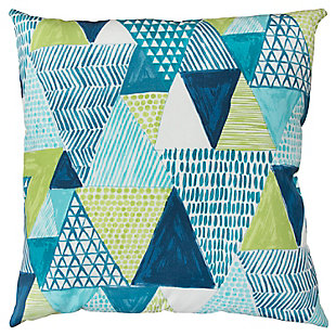 Rizzy Home Geometric Watercolor Indoor/ Outdoor Throw Pillow, , large