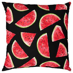 Rizzy Home Watermelon Indoor/ Outdoor Throw Pillow, Red, large