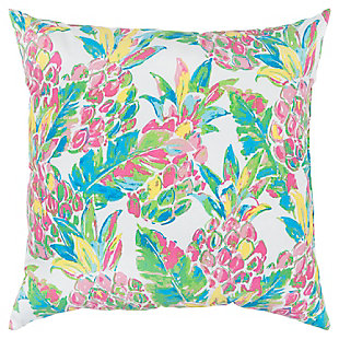 Rizzy Home Floral Indoor/ Outdoor Throw Pillow, , large