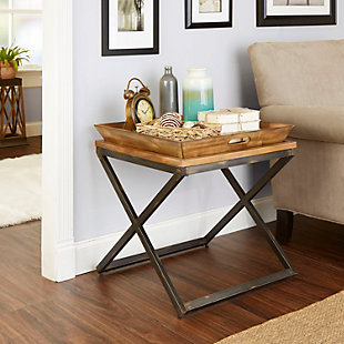 Calhoun Industrial Collection End Table, , rollover
