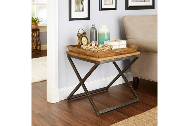 Calhoun Industrial Collection End Table, , large