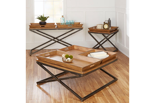 Calhoun Industrial Collection Console Table, , large