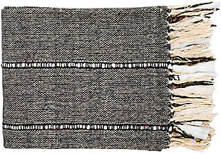 Surya Galway Throw, Charcoal, rollover
