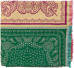 Surya Indira Throw, Bright Pink/Lime, rollover