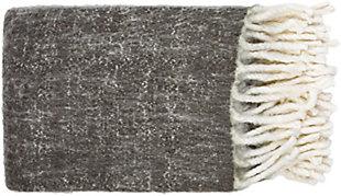 Surya Kilkenny Throw, Charcoal, large