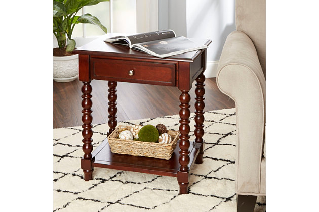 Caroline Caroline Turned Leg Accent Table, , large