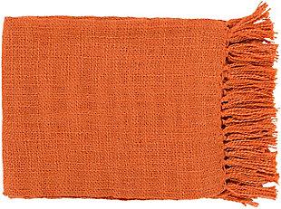 Surya Tilda Throw, Burnt Orange, rollover