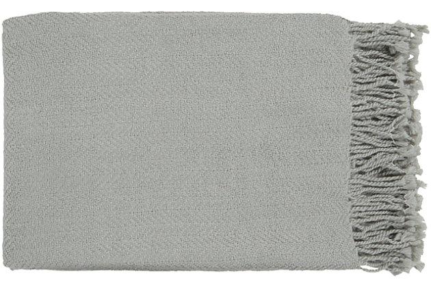 Surya Turner Throw, Medium Gray, large