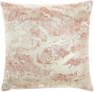 Nourison Sofia Marble Metallic Throw Pillow, , large