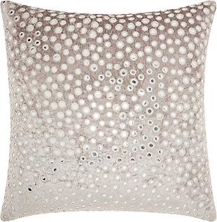 Nourison Life Styles Velvet Mirrors Throw Pillow, , large