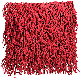 Nourison Shag Red Skinny Fugga Throw Pillow, Red, large
