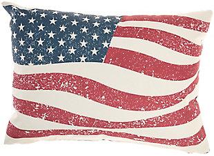 Nourison Outdoor Flag Throw Pillow, , large