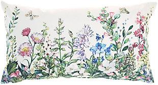Nourison Outdoor Garden Floral Throw Pillow, , large