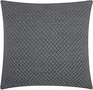 Nourison Couture Natural Hide Woven Throw Pillow, Gray, rollover