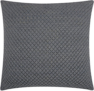 Nourison Couture Natural Hide Woven Throw Pillow, Gray, large