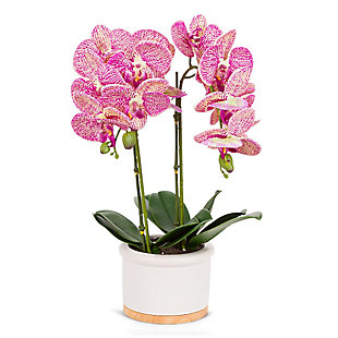 18-Inch Tall Real Touch Ultra-Realistic Pink Phalaenopsis Arrangement in Pot, , large