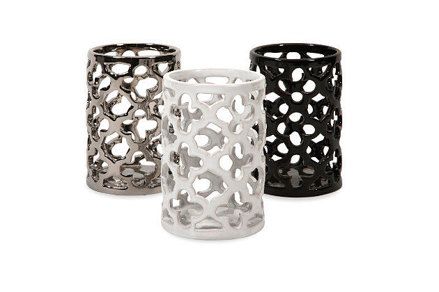 Home Accents Cutout Tealight Holders (Set of 3), , large