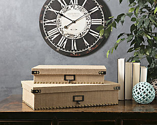 Home Accents Document Boxes (Set of 2), , large