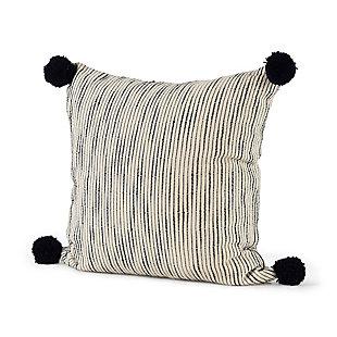 Mercana Krystal Pom Pom Decorative Pillow Cover, , rollover