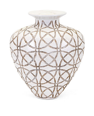 Kelsang Short Earthenware Vase, , large