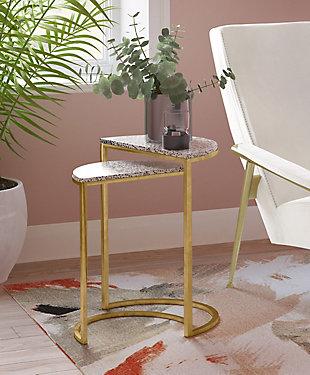 TOV Furniture Crete Terrazzo Nesting Tables, , rollover