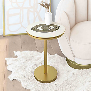 TOV Furniture Eye Handpainted Side Table, , rollover