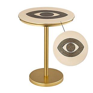 TOV Furniture Eye Handpainted Side Table, , large