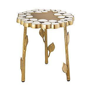 TOV Furniture Flor Handpainted Side Table, , large