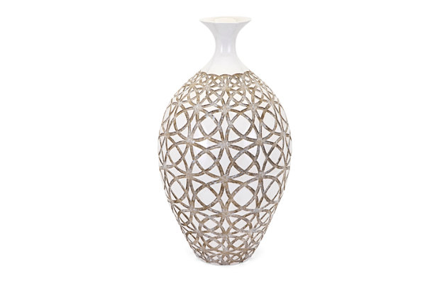 Kelsang Tall Earthenware Vase, , large