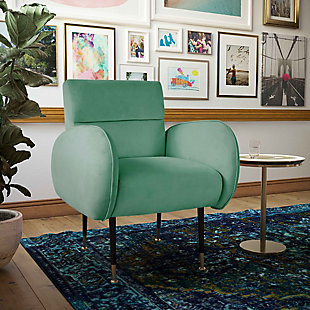 TOV Furniture Babe Velvet Chair, Mint Green, rollover