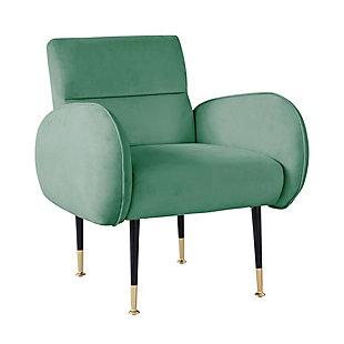 TOV Furniture Babe Velvet Chair, Mint Green, large