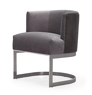 TOV Furniture Eva Velvet Chair, Gray, large