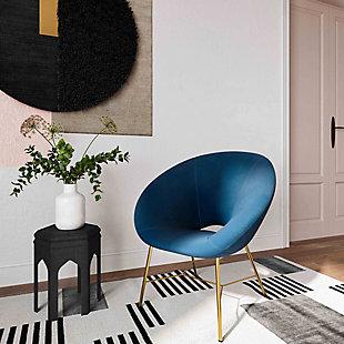 TOV Furniture Nolan Velvet Chair, Navy, rollover