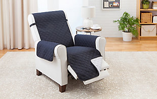 Couch Guard Recliner Slipcover, Gray, large