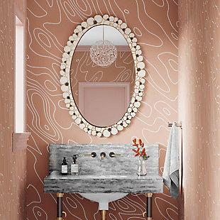 Flor  Handpainted Mirror, , rollover