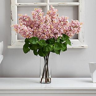 "24"" Lilac Artificial Arrangement in Cylinder Vase, , rollover"