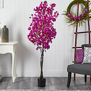 6' Bougainvillea Artificial Tree, , rollover