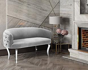 TOV Furniture Adina Velvet Loveseat, , rollover