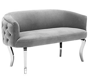 TOV Furniture Adina Velvet Loveseat, , large