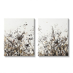 Stupell Industries  Watercolor Field of Grassy Weeds Brown Tan Painting, 24 x 30, Canvas Wall Art, Beige, large