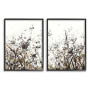 Stupell Industries  Watercolor Field of Grassy Weeds Brown Tan Painting, 16 x 20, Framed Wall Art, Beige, large